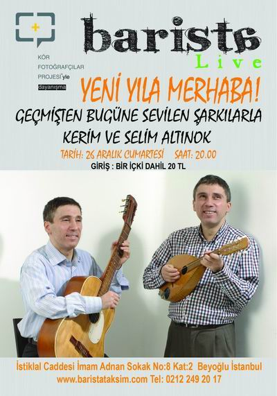 Kerim-Selim Altınok Barista Konser Afişi
