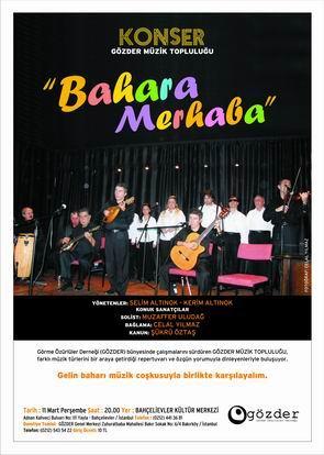 Bahara Merhaba Konser Afişi
