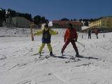 Selim kar sapanıyla Uludağ Yamaçlarında