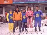 Kerim-Selim,kayak hocası ve arkadaşları
