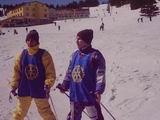 Kerim Ve Selim Altınok kayak yaparken