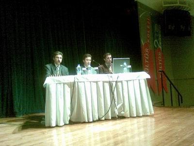 Kültür Koleji Konferansta Selim-Kerim Altınok,Ilgaz Gümüştaş
