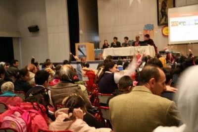 Türkân Sabancı Körler Okulu konferansı izleyicilerle