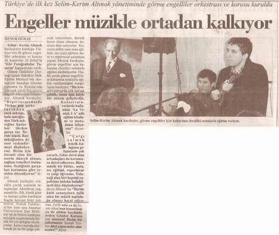 Koro ile ilgili Cumhuriyet Gazetesinin haberi