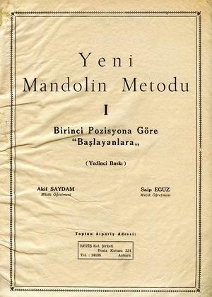 Yeni Mandolin Metodu ön kapağı