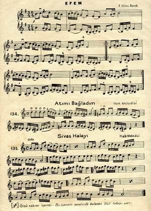 Akif Saydam-Saip Egüz'ün Yeni Mandolin Metodundan bir sayfa