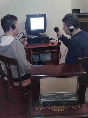 Radyo Yayını esnasında Kerim ve Selim Altınok