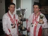 Kerim ve Selim Altınok Millî Eşofman,madalya ve kupalarıyla