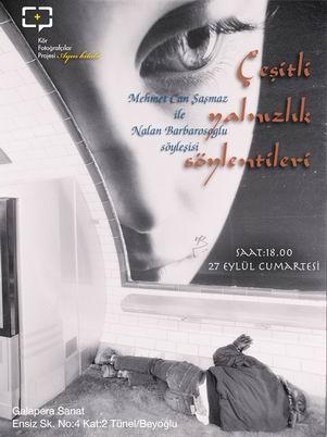 Çeşitli Yalnızlık Söylentileri-Mehmet Can Şaşmaz'la söyleşi afişi